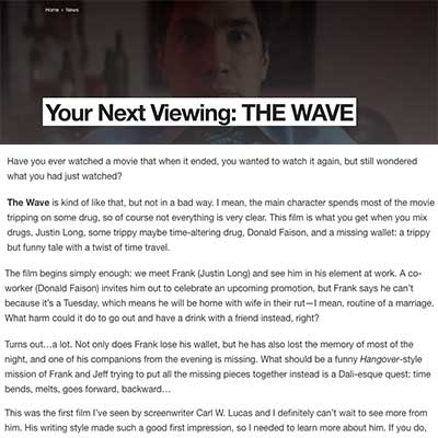 Your Next Viewing: THE WAVE