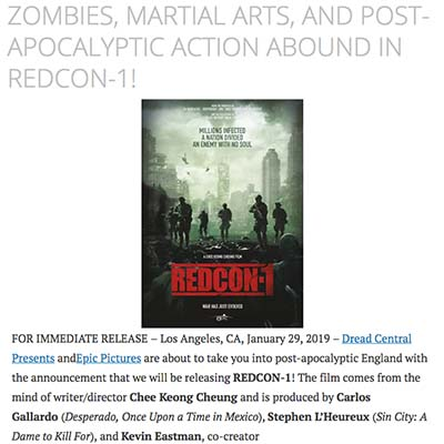 ZOMBIES, MARTIAL ARTS, AND POST-APOCALYPTIC ACTION ABOUND IN REDCON-1!