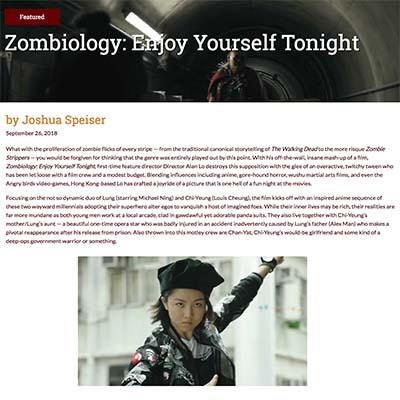 Zombiology: Enjoy Yourself Tonight Film Review